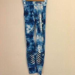 Nike N7 tights in blue tie dye